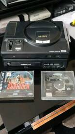 Sega mega cd drive bundle including snatcher