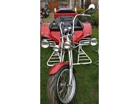 Rewaco HS4 red glimmer trike, low milage, good condition for year, 12 months MOT