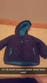 Bluezoo coat 12-18 months