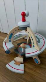 Wooden Alien spaceship toy