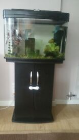 Fish pod tank for tropical fish including many accessories