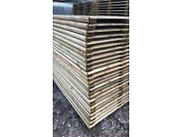 ⭐️Flat Top Timber Pressure Treated Fence Panels