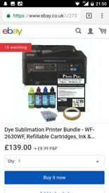 Heat press & sublimation printer full set up