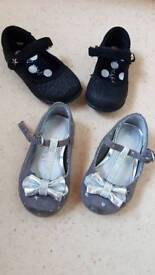 Girls next size 4 party shoes