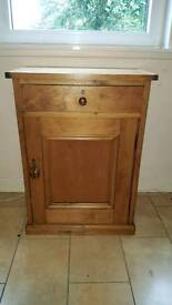 Antique pine cupboard with drawer