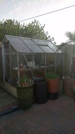 8ft by 6ft greenhouse with base if needed