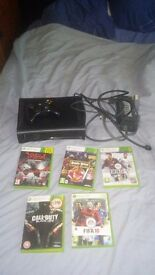 Xbox 360 120gb with 5 games