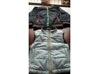 BOYS AGE 2 LEGO WEAR BODY WARMER GILET AND RAIN JACKET BOTH EXCELLENT CONDITION