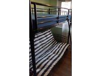 Black bunk bed futon