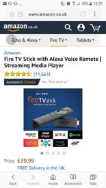 Brand New Firestick with Alexa Voice Remote