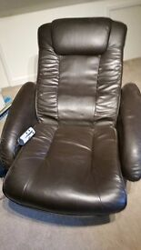 Electric leather massage chair