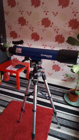 meade infinity series 90 mm refracting telescope with accessories