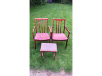 2x dining chairs and small side table