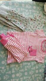 next x2 girls short sleeve pj's, size 12-18 months