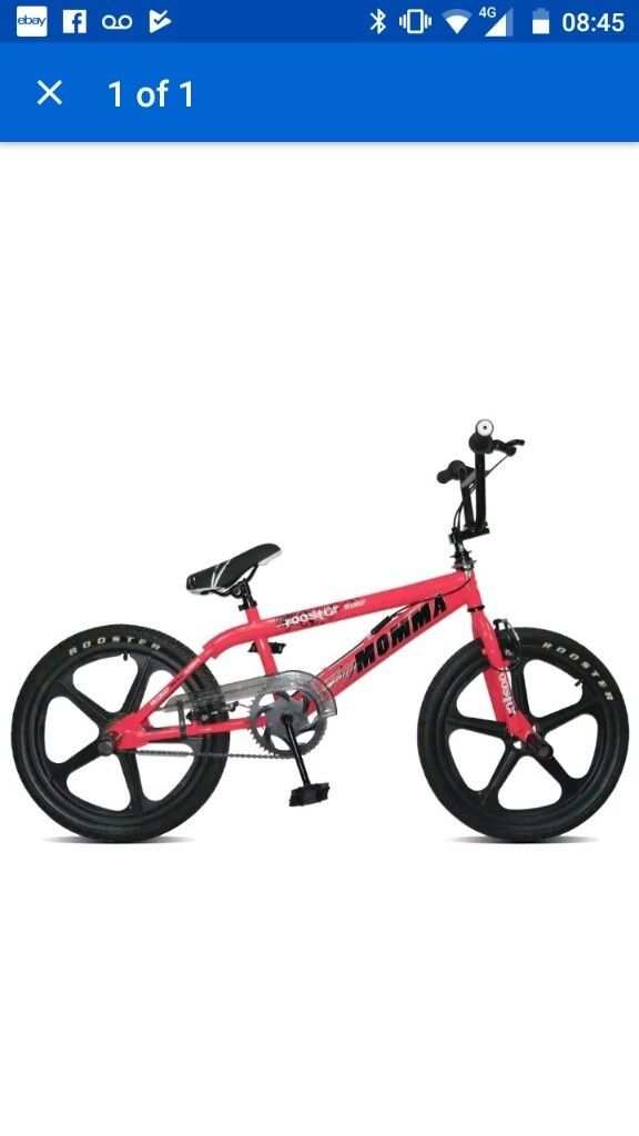 Big momma pink rooster BMX skymag wheels current model excellent condition age 8 to adult