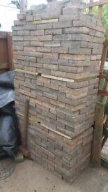 Dark brown paving bricks