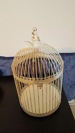 Cream Metal Bird Cage- Wedding