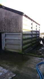 Old milking parlour shed. 10m long by 5m width