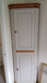 REDUCED!!!! Lovely pine corner unit painted in Farrow and Ball Oxford Stone