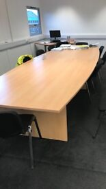 Boardroom table comfortably seats 12 people hardly used cost £900 new.