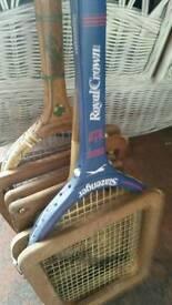 Old tennis bats