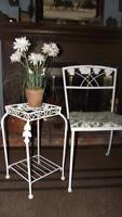shabby chic wrought iron chair