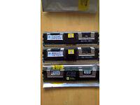 3 x 2Gb ECC DDR2 667 Server RAM