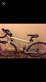 Unisex Giant Defy road bike with SPD pedals
