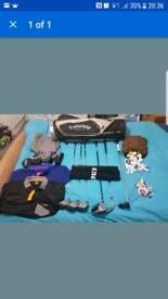 Callaway golf bag and extras