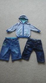 Boys Jeans and Hooded Cardigan bundle Age 6-9 Months