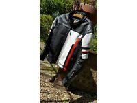 Merlin motorbike leather jacket xl