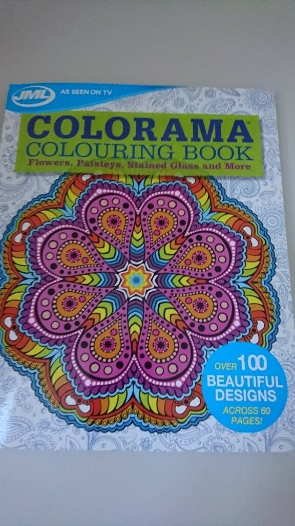 Jml Colorama Coloring Book Flowers Paisley S Stained Glass Plus