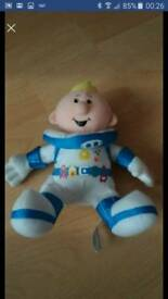 Cbeebies lunar jim soft cuddly toy 8""