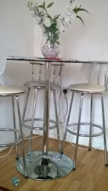 bistro table and chairs