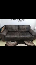 3-Seater Pure Leather Sofa
