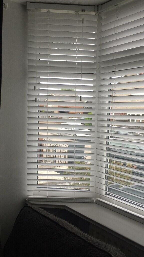 3 White Wood Blinds With Tapes For Bay Window In Sunderland Tyne And Wear Gumtree