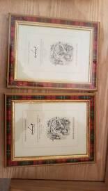 Four tartan frames
