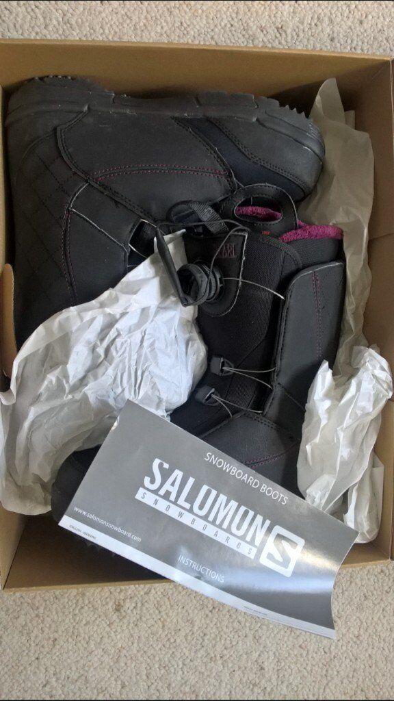 Salomon Pearl BOA Womens Snowboard Boots UK 7 - boxed, like new