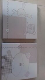 2x matching mothercare nursery canvas pictures