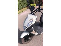 Peugeot Streetzone 50cc moped, 66 plate