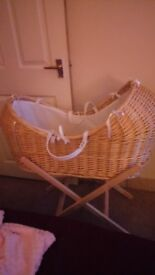 Noah pod/moses basket and stand for sale