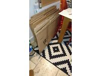 12x moving boxes, less than £1 per box, only used once - Kentish Town