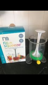 Mothercare fill and squeeze food press