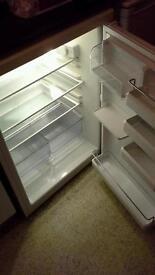 White fridge 60cm wide under worktop in height