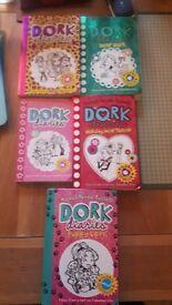 Set of 5 Dork Diaries books
