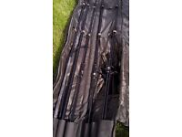 Rods reels net and bag