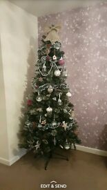 Christmas tree 7ft green glitter tip
