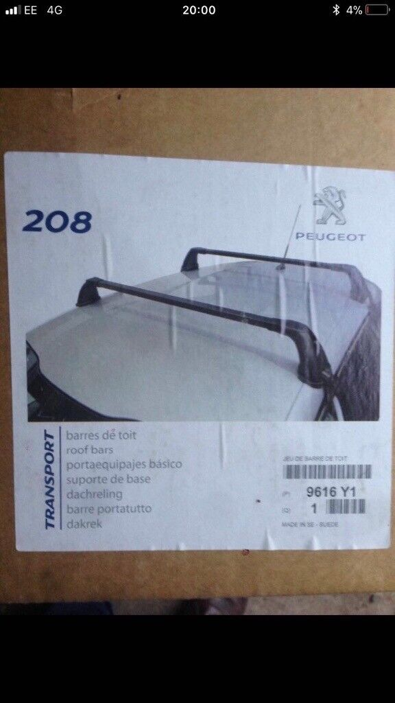 **For Sale Genuine Peugeot Roof Bars**