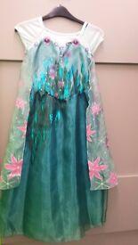 Disney Frozen Fever Elsa Dressing up Costume 7-8 years