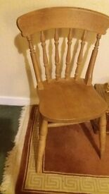 Spindle back farmhouse chairs x 2